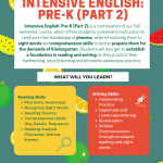Intensive English: Pre-K II Tuesday 4-4:45pm