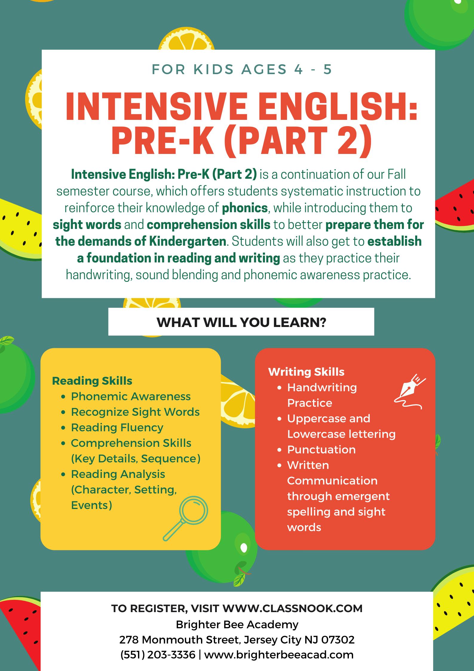 PreK2_Course Poster